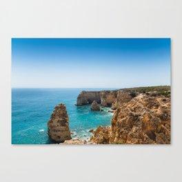 Beach at Lagoa, Algarve, Portugal II Canvas Print