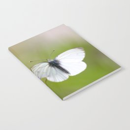 White Butterfly Natural Background Notebook