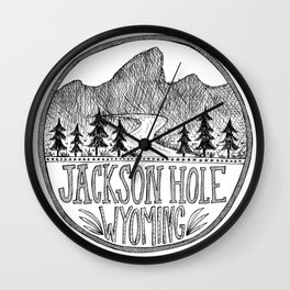 Jackson Hole Wyoming Wall Clock