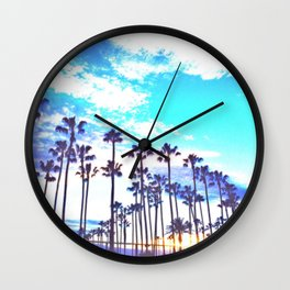 Vibrant Palms Wall Clock
