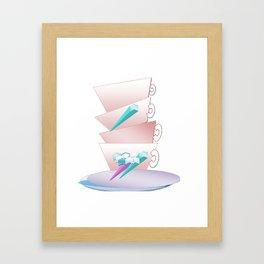 Mugs illustration Framed Art Print