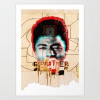 godfather Art Prints featuring Godfather by Marko Köppe