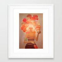 loish Framed Art Prints featuring Glow by loish