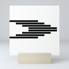 Side Ways   Black Mini Art Print