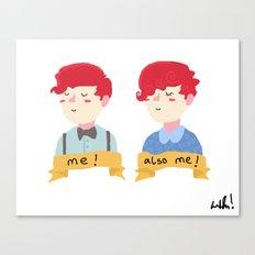 two self portraits Canvas Print