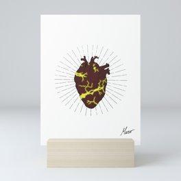 Kintsugi - The Golden Scars - White Mini Art Print