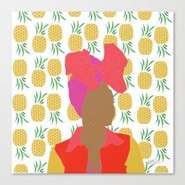 Pineapple Bawse Babe Canvas Print