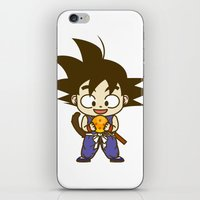 dragonball iPhone & iPod Skins featuring Young Goku with dragonball by Samtronika