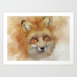 The Red Fox Art Print