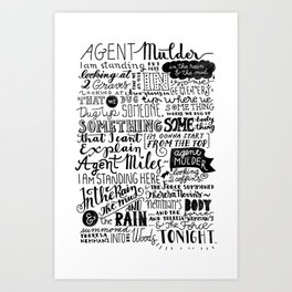 Into the woods tonight | Dana Scully Art Print