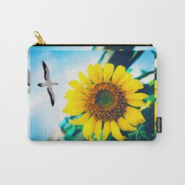 Soaring Bird Sunflower Carry-All Pouch