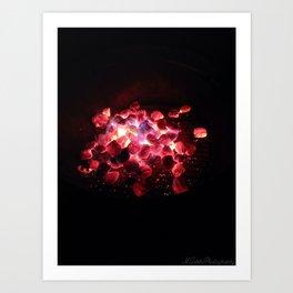 """""""Firepit"""" (2014) Art Print"""
