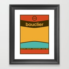 bouclier single hop Framed Art Print