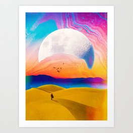 Behind This Mountains Art Print