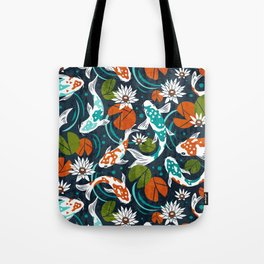 Koi Pond - Orange Tote Bag