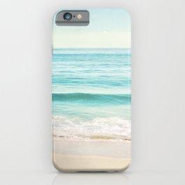 Ocean Seascape Photography, Aqua Beach Sea Landscape, Turquoise Teal Coastal Waves iPhone Case