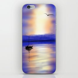 Digital Sunset iPhone Skin