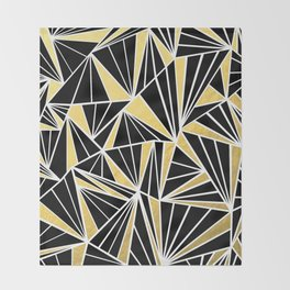 Ab Fan Zoom Gold Throw Blanket