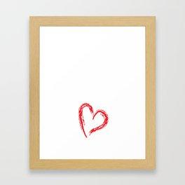 Piano Princess Professional Musician Heart T-Shirt Framed Art Print