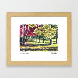 Golfer's Lane, Briars Golf Course, Fall Framed Art Print
