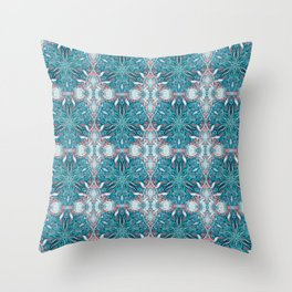 Ocean Mandala Throw Pillow