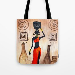 African red Tote Bag