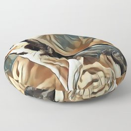 The Siberian Husky Floor Pillow