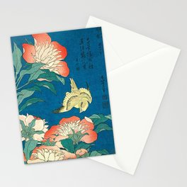 Katsushika Hokusai Peonies and Canary 1834 Stationery Cards