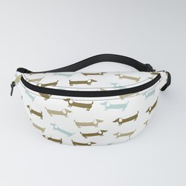 Dachshunds in blue and brown Fanny Pack