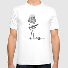 the struggling artist Mens Fitted Tee MEDIUM White