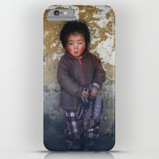 Portrait of serious young Nepali boy  in Lukla, Nepal  Slim Case iPhone 6s Plus