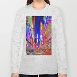 Times Square New York Pop Art Long Sleeve T-shirt