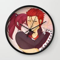 iwatobi Wall Clocks featuring Gou & Seijuro by Merunyaa (Meru)