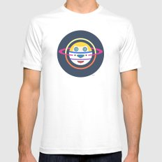 Spaceman 4 MEDIUM White Mens Fitted Tee