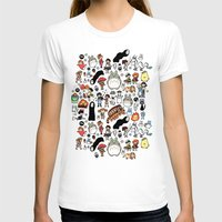 kawaii T-shirts featuring Kawaii Ghibli Doodle by KiraKiraDoodles