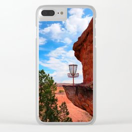 Disc Golf Basket in Moab Utah Clear iPhone Case