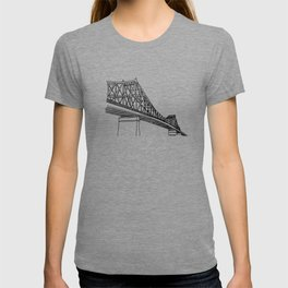 Montreal - Pont Jacques-C - Black T-shirt