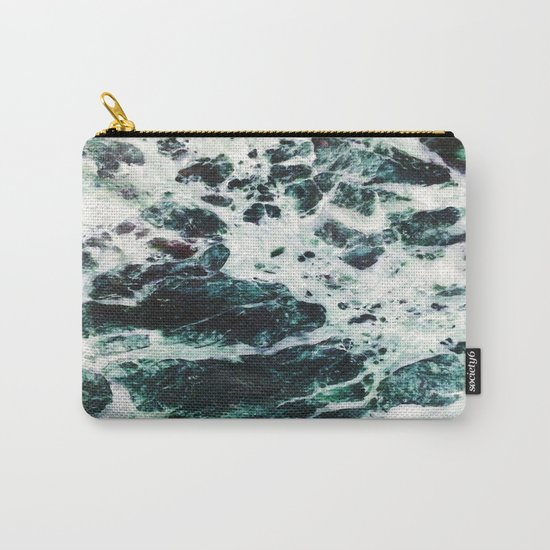Green Marble  Carry-All Pouch