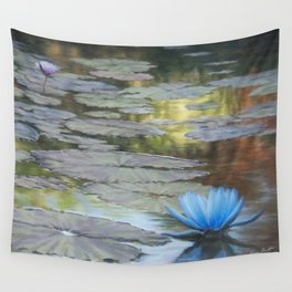 Water Lilies Afloat Wall Tapestry