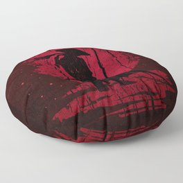 Red Mon Samurai Floor Pillow