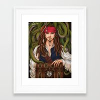 jack sparrow Framed Art Prints featuring Jack Sparrow by sika-chan