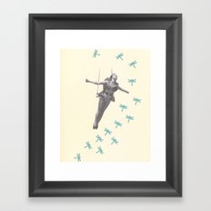 Oh to be a Dragonfly Framed Art Print