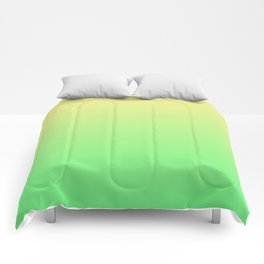 Green to Yellow Ombre Shaded Lemon and Lime Sorbet Ice Cream Gelato Comforters