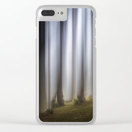 Spooky woodland Clear iPhone Case