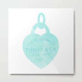 Tiffany heart locket charm Metal Print
