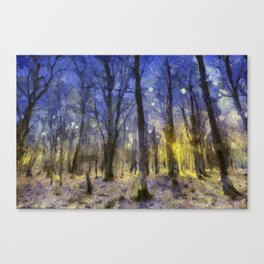 The Forest Van Gogh Canvas Print