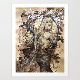 Kate by carographic, Carolyn Mielke Art Print