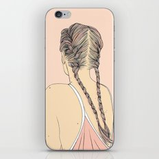 Pretty In Pink Pigtails iPhone Skin