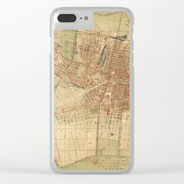 Map Of Mexico City 1907 Clear iPhone Case