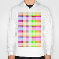 bathroom Hoodies featuring Bathroom Tile Rainbow by Jessica Slater Design & Illustration